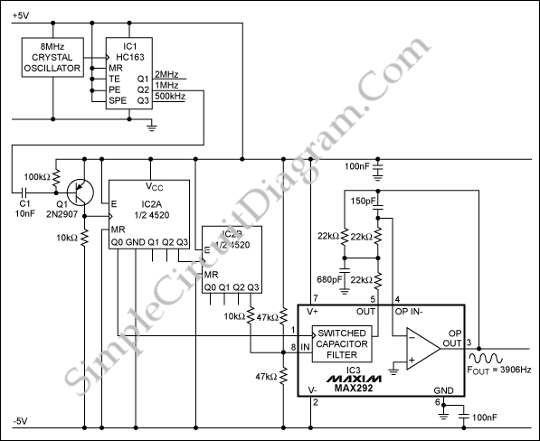 Oscillators  U2013 Page 13  U2013 Simple Circuit Diagram