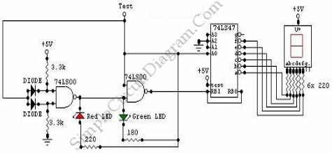 Logic Probe Seven Segment on Logic Probe Circuit Diagram