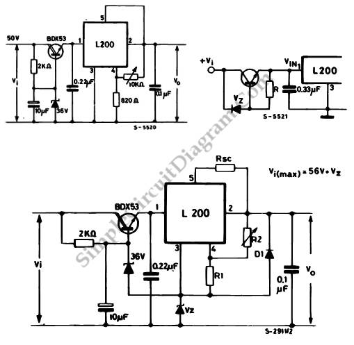 higher input or output for l200 voltage regulator
