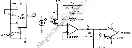 remote control \u2013 simple circuit diagraminfrared transmitter and receiver circuit shown in the schematic diagram below can be used as remote control the transmitter is basically an oscillator