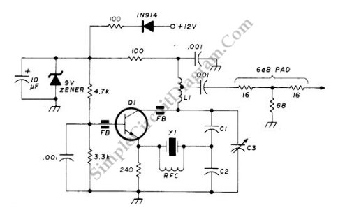 Wondrous 90 125 Mhz Crystal Rf Oscillator Simple Circuit Diagram Wiring Cloud Tziciuggs Outletorg