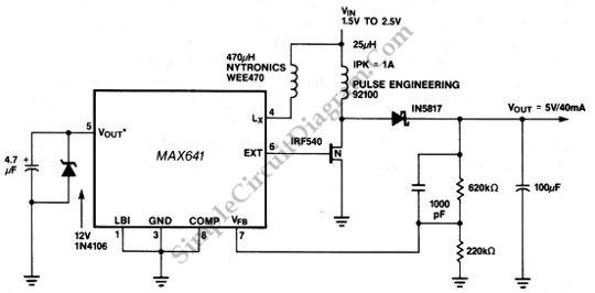 Low voltage 15v battery to 5 v dc dc converter simple circuit low voltage battery to 5 v circuit schematic diagram ccuart Choice Image