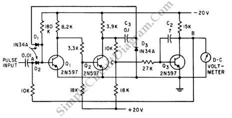 Peak Voltmeter circuit schematic diagram