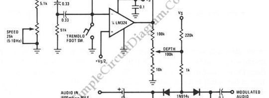 guitar effect  u2013 simple circuit diagram