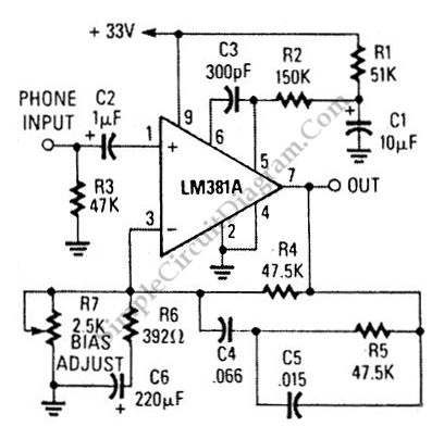 Magnetic Phono Preamp Has Ultra Low Noise Figure | Simple Circuit ...