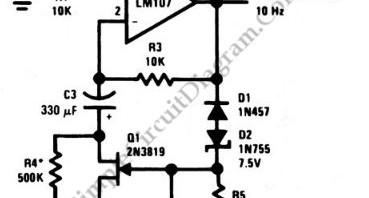 Sinewave Oscillator – Simple Circuit Diagram