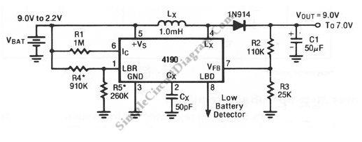 Battery life extender circuit schematic diagram