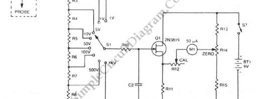 voltmeter  u2013 simple circuit diagram