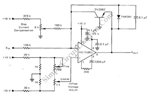 Low Cost Using Opamp circuit schematic diagram