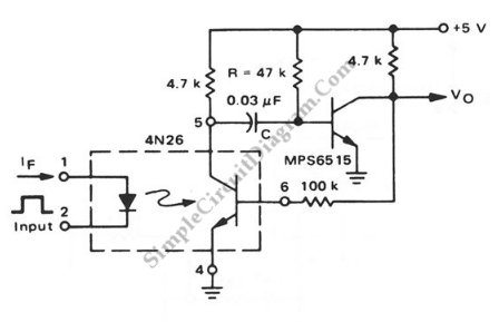 Optocoupler that is used as a pulse stretcher opto coupled discrete pulse stretcher simple circuit diagram