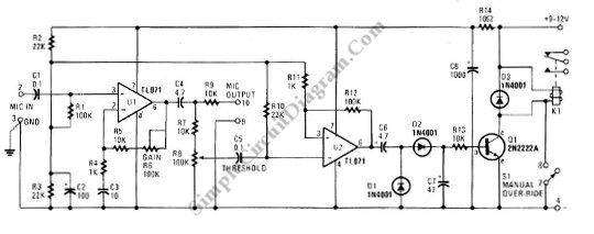 Admirable Vox Voice Operated Switch Simple Circuit Diagram Wiring 101 Capemaxxcnl