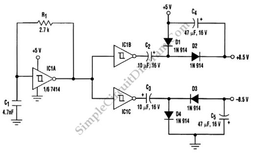 Transformerless Dc To Dc Converter circuit schematic diagram